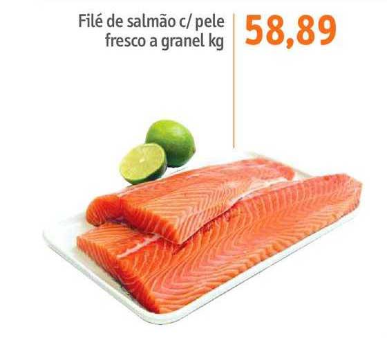 Sonda Supermercados Filé De Salmão C Pele Fresco A Granel Kg