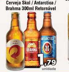 Copercana Cerveja Skol Antarctica Brahma Retornável