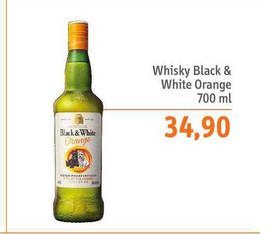 Sonda Supermercados Whisky Black & White Orange