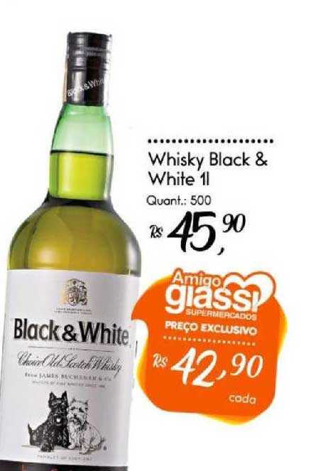 Giassi Supermercados Whisky Black & White