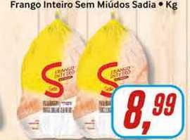 Rede Supermarket Frango Inteiro Sem Miúdos Sadia
