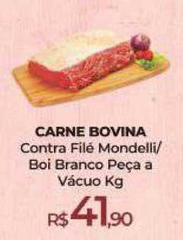 Peg Pese Carne Bovina Contra Filé Mondelli Boi Branco Peça A Vácuo