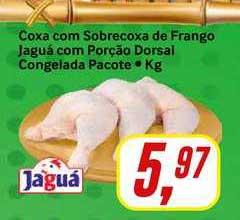 Rede Supermarket Coxa Com Sobrecoxa De Frango Jaguá Com Porção Dorsal Congelada