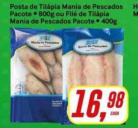 Rede Supermarket Posta De Tilápia Mania De Pescados Pacote Ou Filé De Tilápia Mania De Pescados Pacote