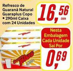 Rede Supermarket Refresco De Guaraná Natural Guaraplus Copo Caixa