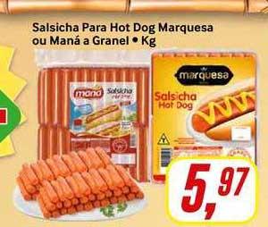 Rede Supermarket Salsicha Para Hot Dog Marquesa Ou Maná A Granel