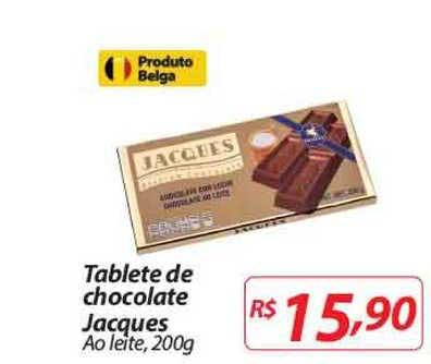Nacional Tablete De Chocolate Jacques Ao Leite