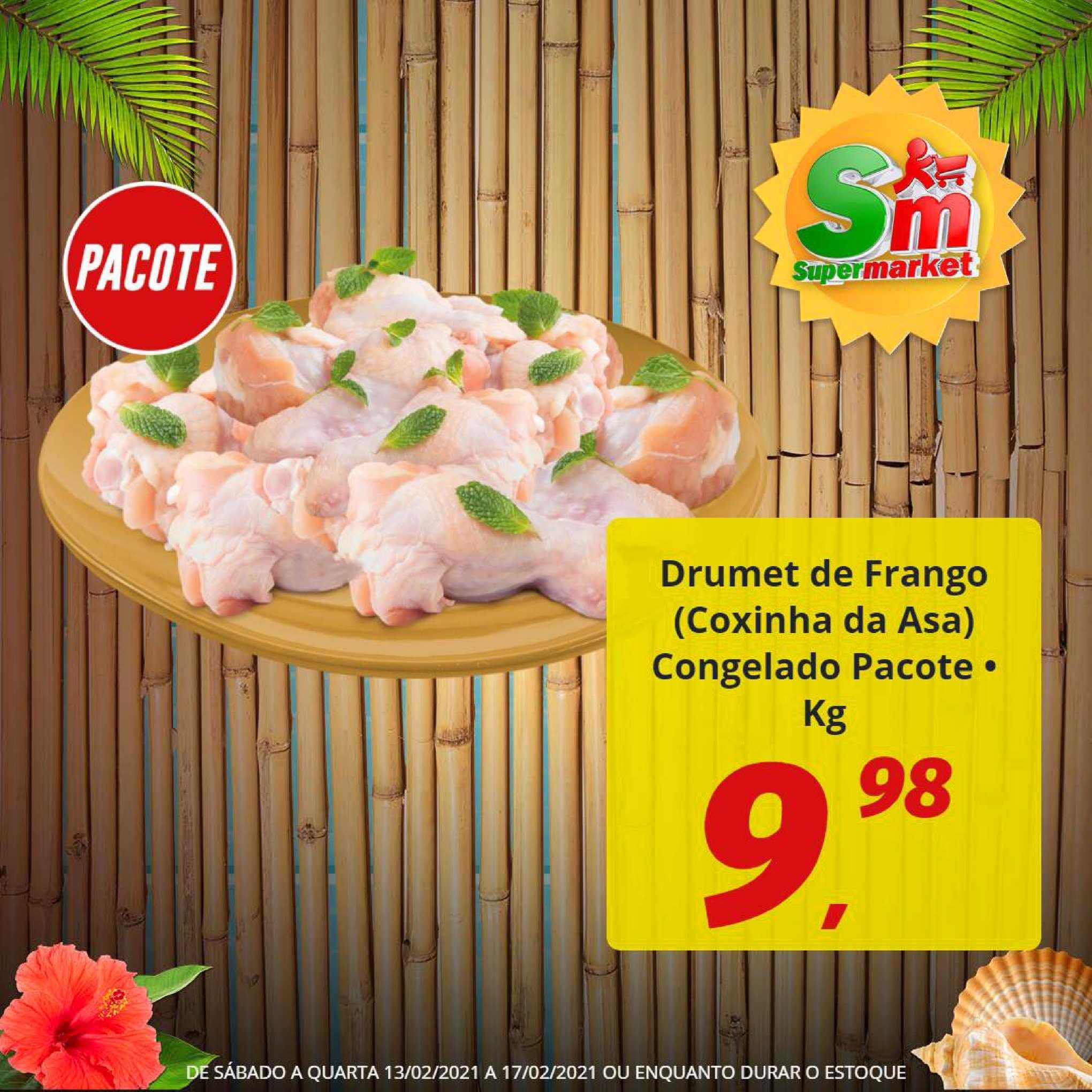 Rede Supermarket Drumet De Frango Coxinha Da Asa Congelado