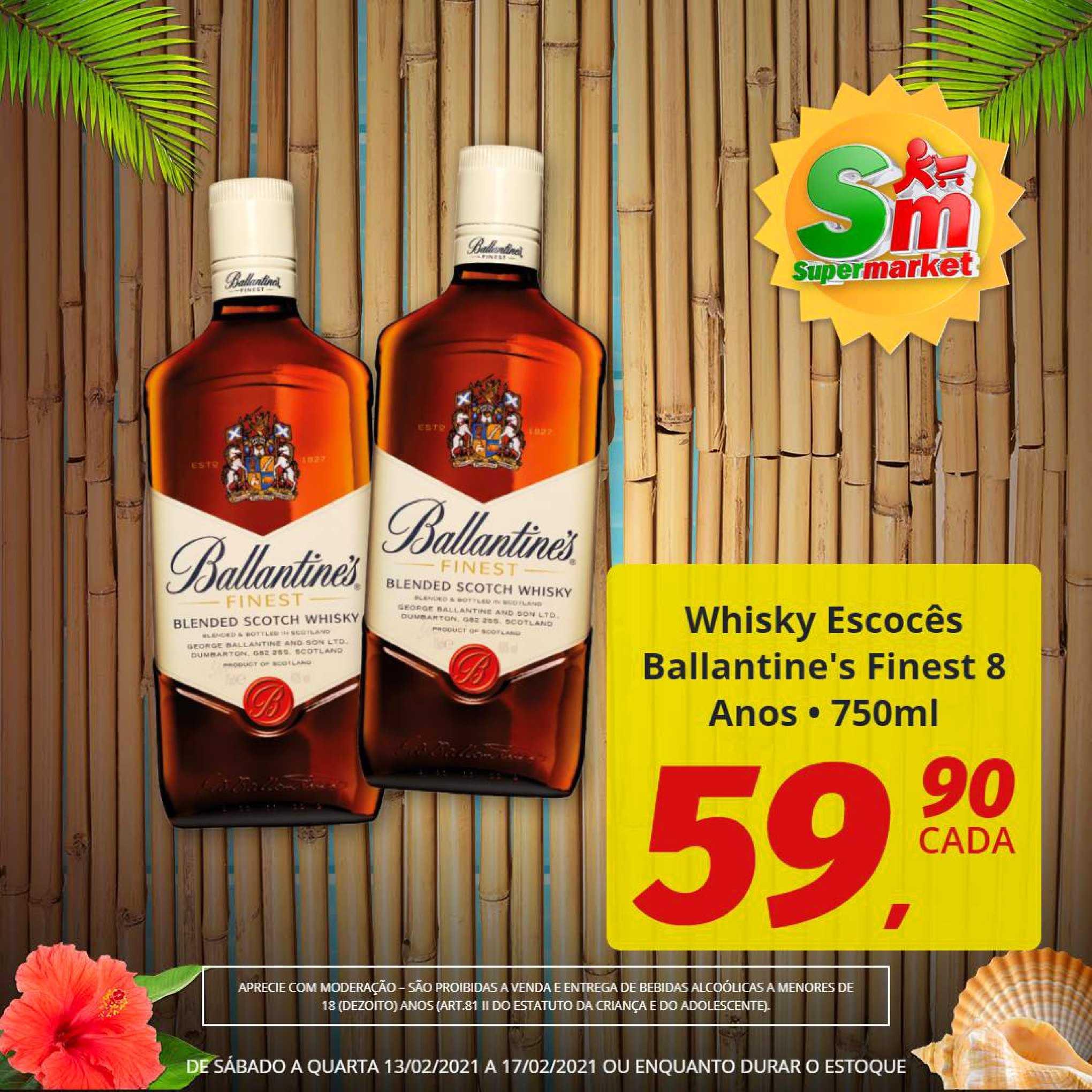 Rede Supermarket Whisky Escocês Ballantine's Finest