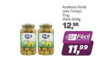 Supermercados São Vicente Azeitona Verde Com Caroço Ting