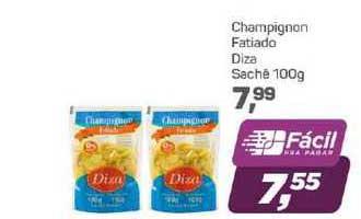 Supermercados São Vicente Champígnon Fatiado Diza