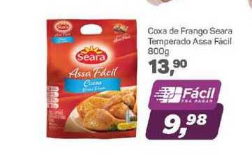 Supermercados São Vicente Coxa De Frango Seara Temperado Assa Facil