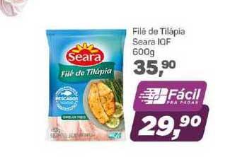 Supermercados São Vicente Filé De Tilápia Seara Iqf