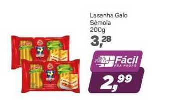 Supermercados São Vicente Lasanha Galo Sêmola