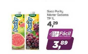 Supermercados São Vicente Suco Purity Néctar Sabores