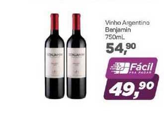 Supermercados São Vicente Vinho Argentino Benjamin