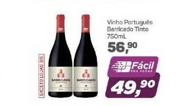 Supermercados São Vicente Vinho Português Barricado Tinto