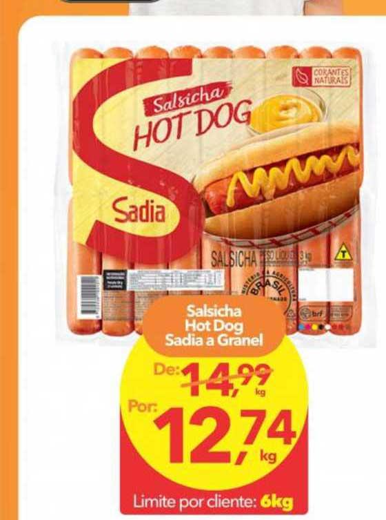 Lopes Supermercados Salsicha Hot Dog Sadia A Granel