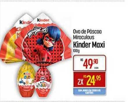Super Muffato Ovo De Páscoa Miraculous Kinder Maxi