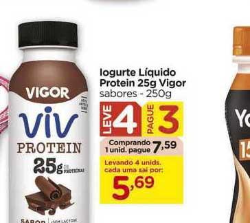 Carrefour Iogurte Líquido Protein 25g Vigor Leve 4 Pague 3