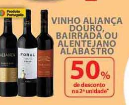 Nacional Vinho Aliança Douro Bairrada Ou Alentejano Alabastro 50% De Desconto Na 2a Unidade
