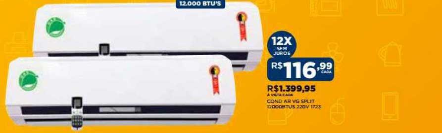 DB Supermercados Cond Ar Vg Split 12000btus 220v