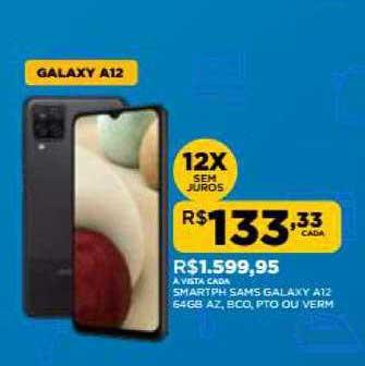 DB Supermercados Smartph Sams Galaxy A12 64gb Az Bco Pto Ou Verm