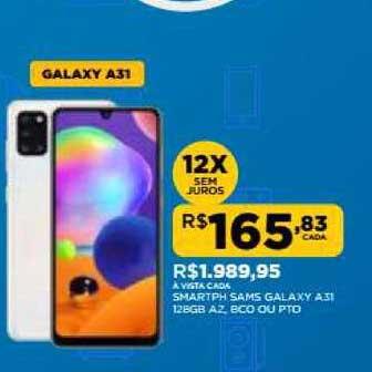 DB Supermercados Smartph Sams Galaxy A31 12gb A2 Bcp Ou Pto