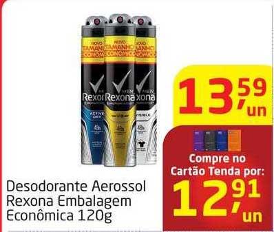 Tenda Atacado Desodorante Aerossol Rexona Embalagem Econômica