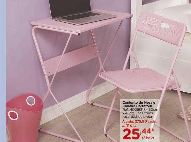 Carrefour Conjunto De Mesa E Cadeira Carrefour