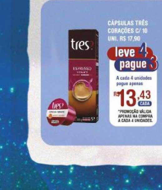 Extrabom Supermercados Cápsulas Très Corações
