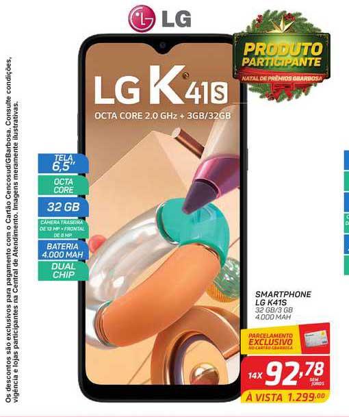 GBarbosa Smartphone Lg K41s