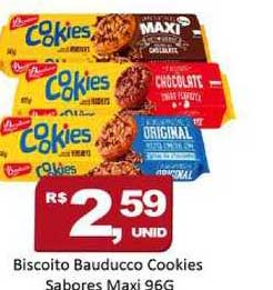 Rede Krill Biscoito Bauducco Cookies Sabores Maxi