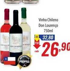 Supermercados BH Vinho Chileno Don Lourenço