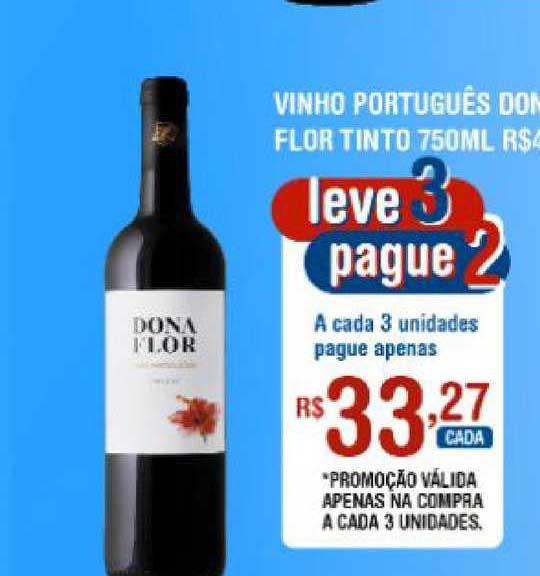 Extrabom Supermercados Vinho Português Dona Flor Tinto Leve 3 Pague 2