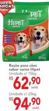 Makro Ração Para Cães Sabor Carne Hipet
