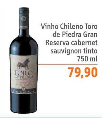 Sonda Supermercados Vinho Chileno Toro De Piedra Gran Reserva Cabernet Sauvignon Tinto
