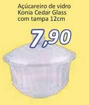 Supermercados Savegnago Açúcareiro De Vidro Konia Cedar Glass Com Tampa