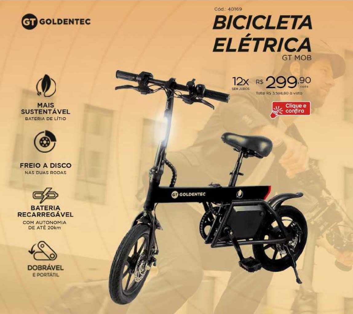 Ibyte Bicicleta Elétrica Goldentec