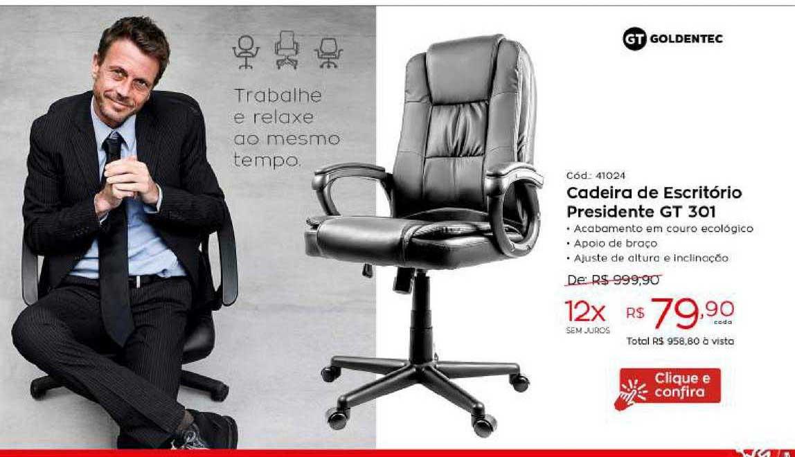 Ibyte Cadeira De Escritório Presidente Gt 301