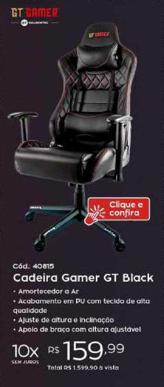 Ibyte Cadeira Gamer Gt Black