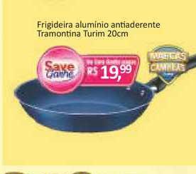 Supermercados Savegnago Frigideira Aluminio Antiaderente Tramontina Turim