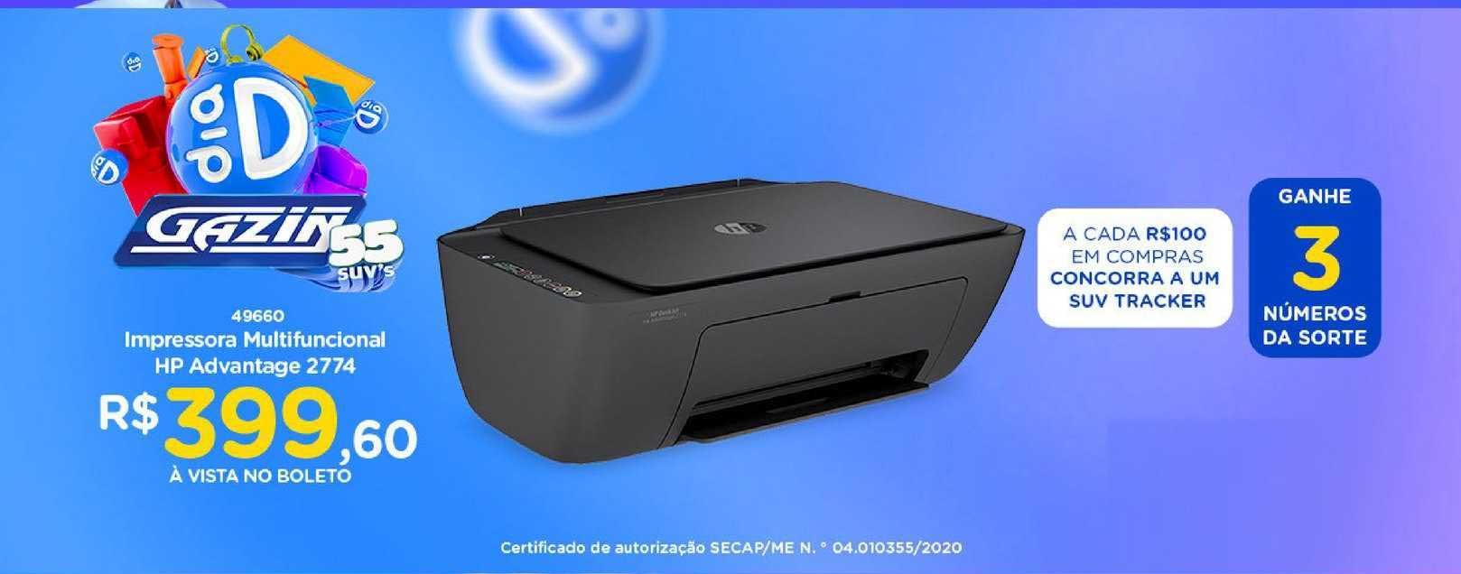 Gazin Impressora Multifuncional Hp Advantage 2774