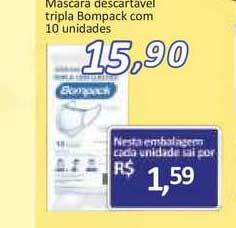 Supermercados Savegnago Mascara Descartavel Tripla Bompack
