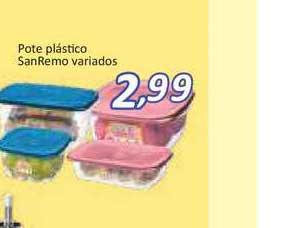 Supermercados Savegnago Pote Plástico Sanremo