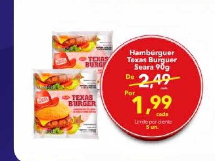 Lopes Supermercados Hambúrguer Texas Burguer Seara