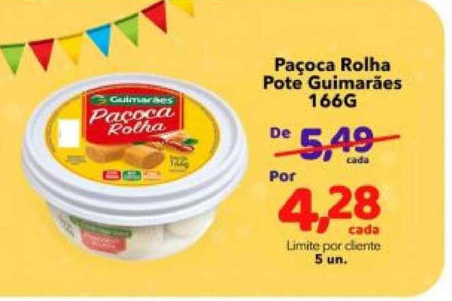 Lopes Supermercados Paçoca Rolha Pote Guimarães