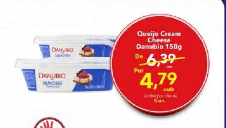 Lopes Supermercados Queijo Cream Cheese Danubio