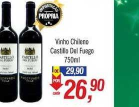 Supermercados BH Vinho Chileno Castillo Del Fuego
