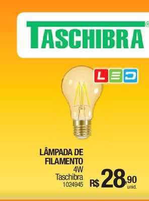 Milium Lâmpada De Filamento Taschibra